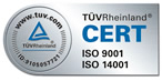 ISO 9001 by the TüV certifier.