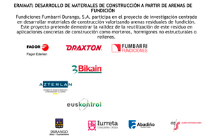 ERAIMAT: Desarrollo de materiales de construcción a partir de arenas de fundición.